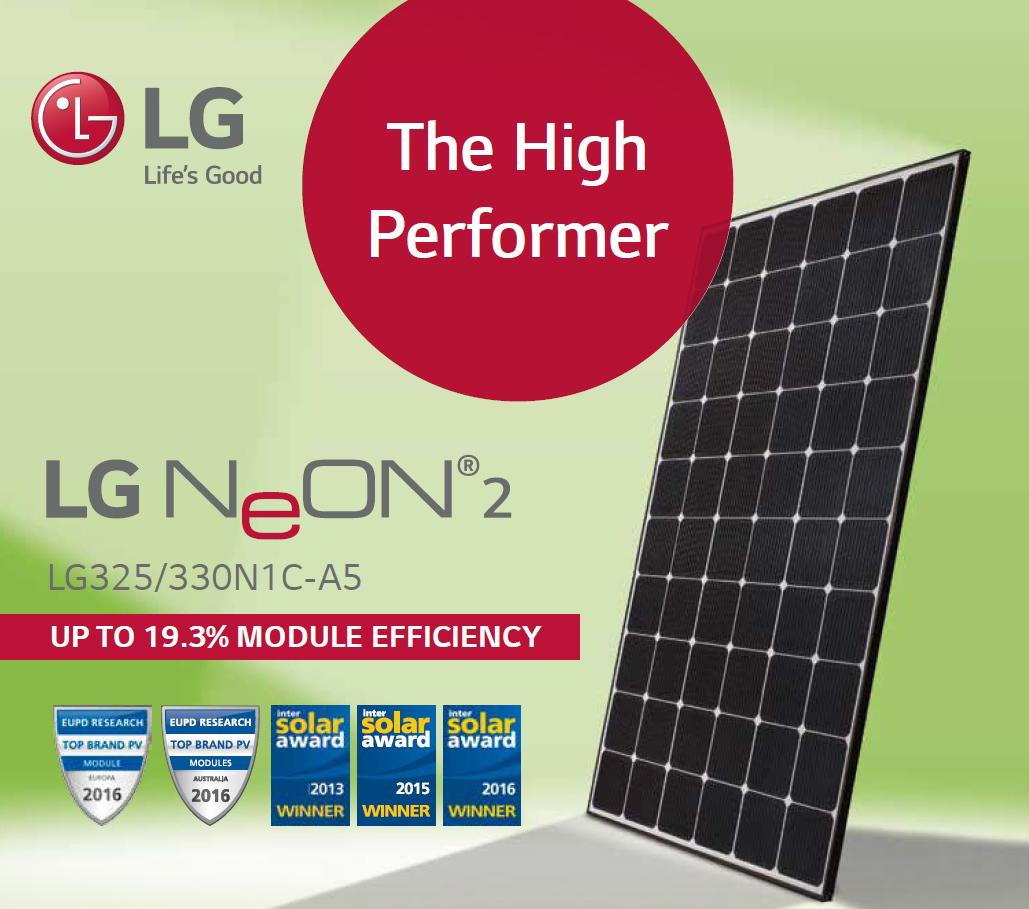 Solar Panel LG 300W Mono Neon 2 BIFACIAL TRANSPARENT